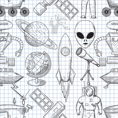 illustration on the theme of space Vector