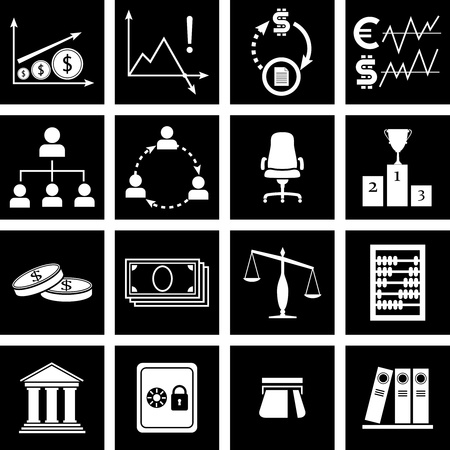 Vector illustration of icons on finance Stock Vector - 15487987