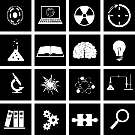Vector illustratie op het thema van de wetenschap