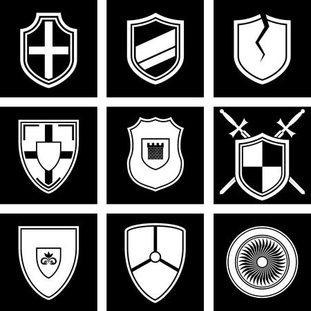 gothic design: set of icons shields