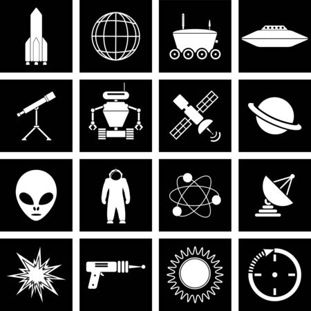 moon rover: space icons