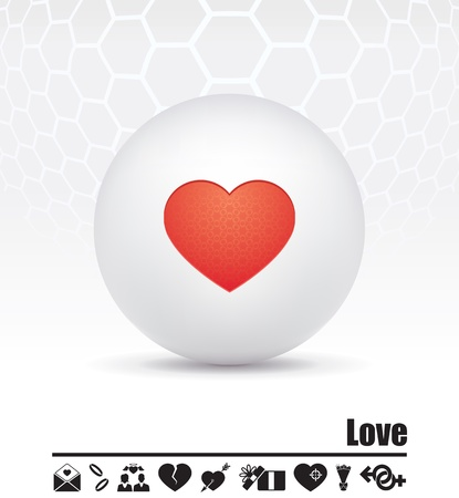 icons on the theme of love Stock Vector - 15659811