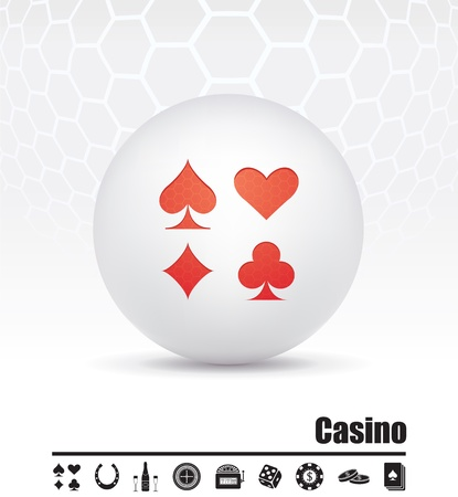 icons on the theme of the casino Stock Vector - 15659809