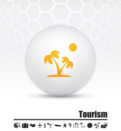 illustration of icons on the topic of tourism Stock Vector - 15659813