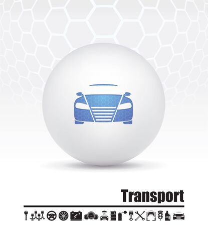 illustration of icons on transport Stock Vector - 15659804