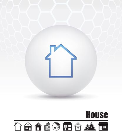small group of object: icons of houses