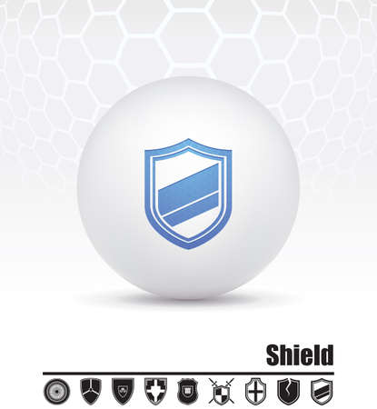 icons shields Vector