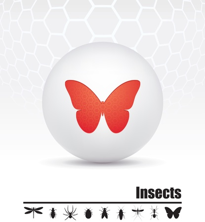 mosquitoes: icons insects