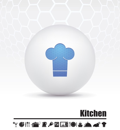 steam cooker: illustration of icons on the food theme Illustration