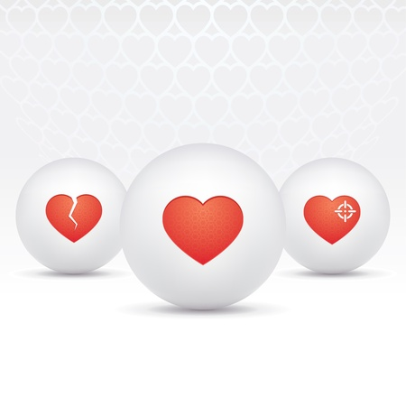 icons of hearts Vector
