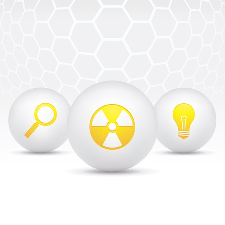 illustration of icons on the topic of science Stock Vector - 15840253