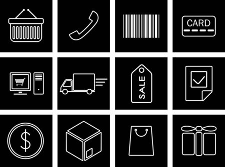 Vector illustration of icons on trafficking Vector