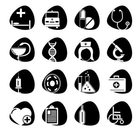 illustration of icons on medicine Stock Vector - 16195702