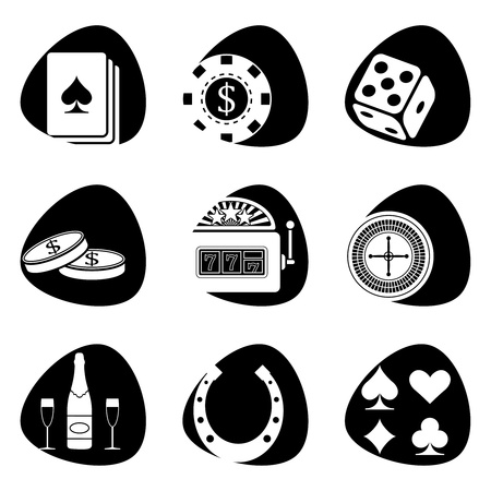 illustration of icons on the subject of gambling Vector