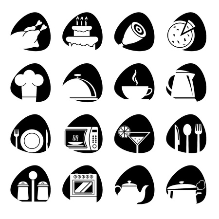 illustration of icons on the food theme Vector