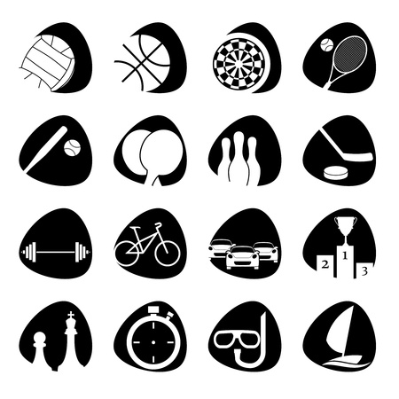 sports bar:  icons on the theme of sport Illustration