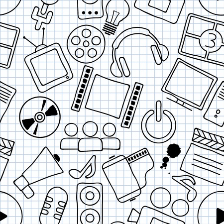 naadloze textuur van een film thema Stock Illustratie