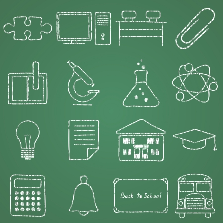 images on school Stock Vector - 16196145