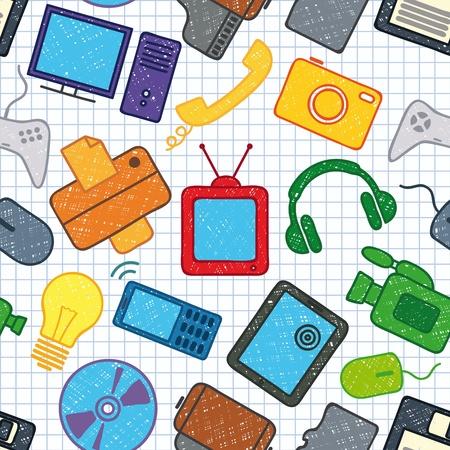 electronics parts: seamless texture on electronics