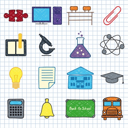 images on school Stock Vector - 16347504