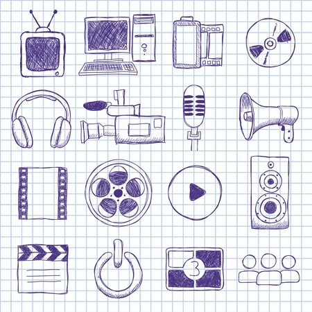 images on film Stock Vector - 16347523