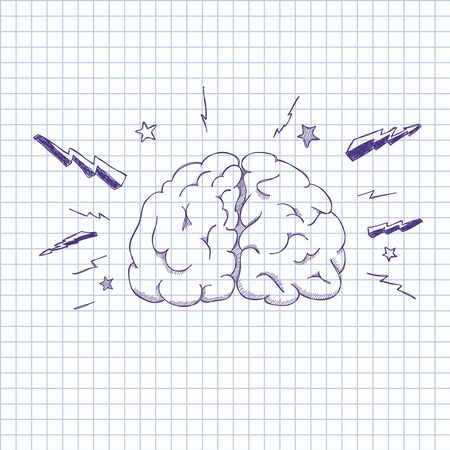 illustratie van menselijke hersenen