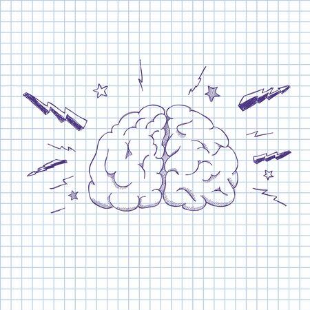 illustration of a human brain Vector