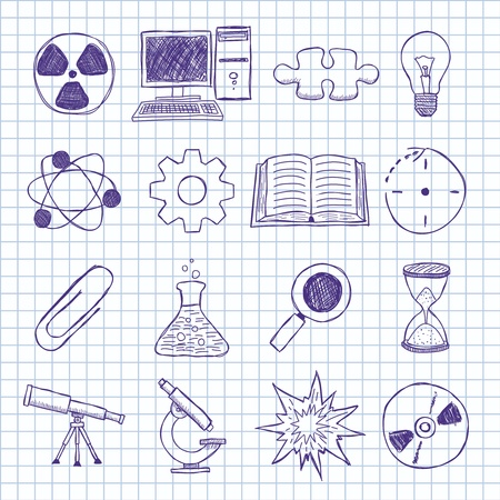 objects on the topic of science Stock Vector - 16536663
