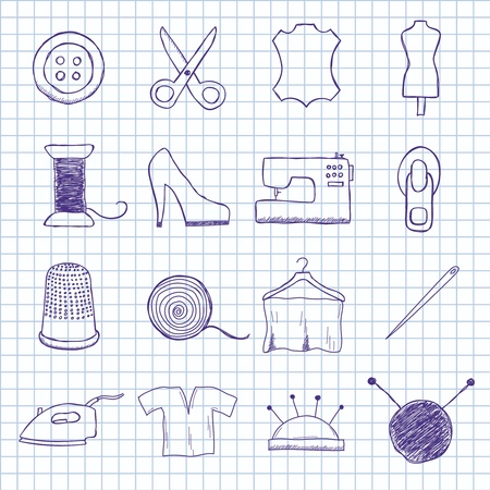 images on the sewing Vector