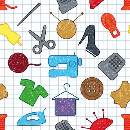 naadloze textuur van het naaien
