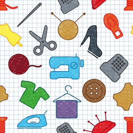 textile machine: seamless texture on sewing