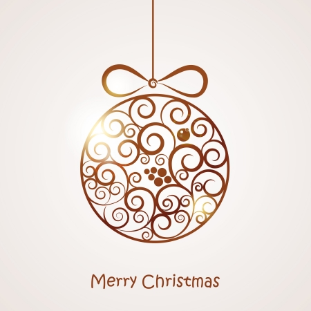 illustration of a Christmas toy Vector