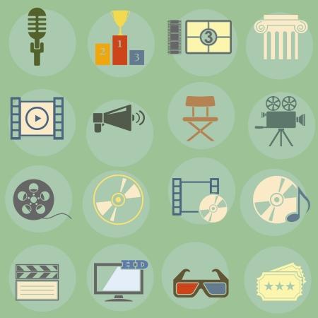 illustratie op het thema van de film Stock Illustratie