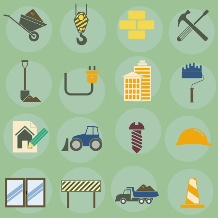 topic:  illustration of icons on the topic of building