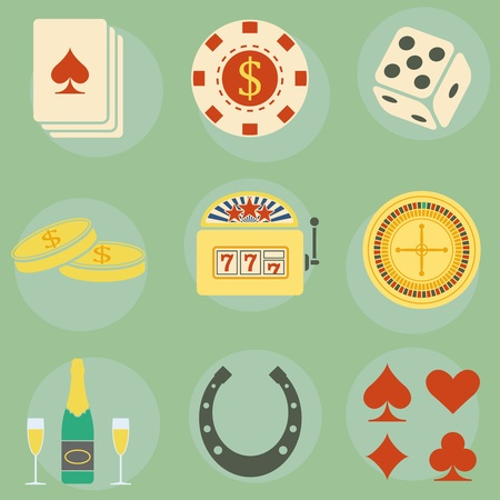 icons on the theme of the casino Stock Vector - 16721667