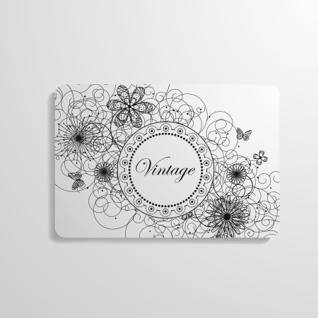 Vector business card flowered Vector