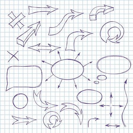 sloppy: Vector arrows Illustration