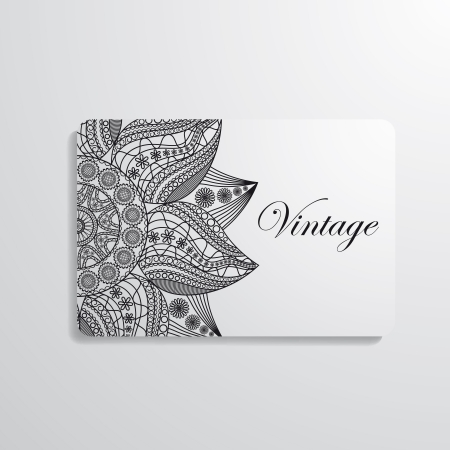 Vector illustration of business card Stock Vector - 17292441