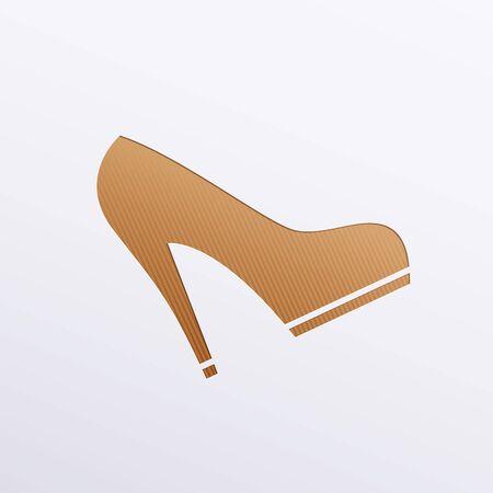 simplification: Vector icons of footwear