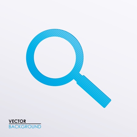 Vector illustration of a magnifying glass icon Stock Vector - 17697276
