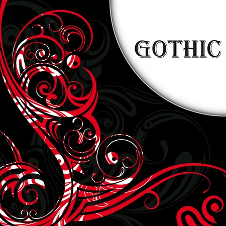 gothic revival style:  illustration of vector background in gothic style