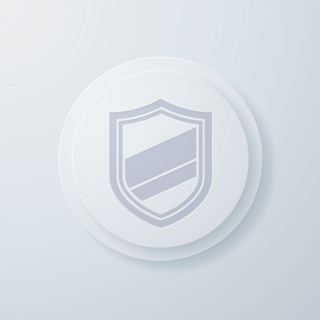 interface elements: Vector illustration of shield icons Illustration
