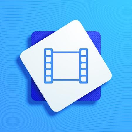 cinematographer: vector illustration of icons frame