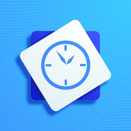 oclock: Vector illustration of icons with a stylized clock
