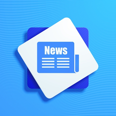 broadsheet: vector illustration of icons on a news topic Illustration