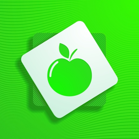 garden of eden: vector illustration of an apple icon Illustration