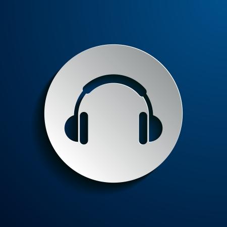 Stock icons headphones Vector