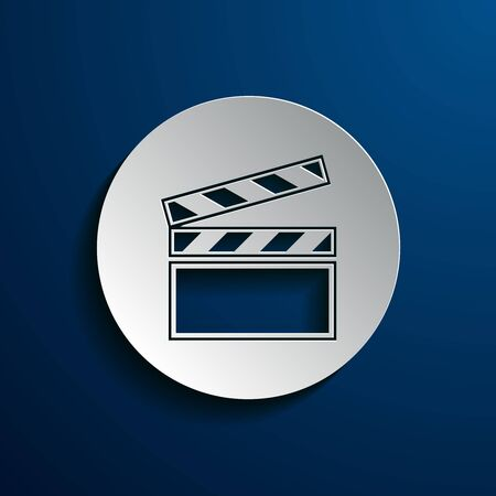 cinematographer: vector illustration of icons on the topic of film Illustration