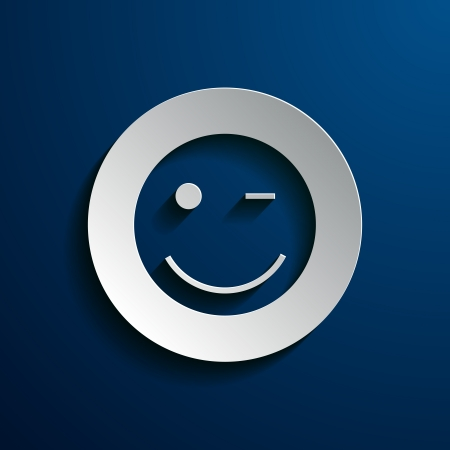 vector illustration of smiley images