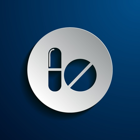 painkillers: vector illustration of tablets